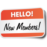 New members in May/June/July