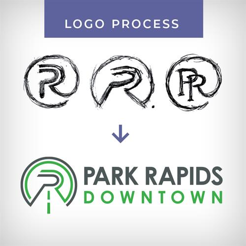Logo Process - Park Rapids Downtown
