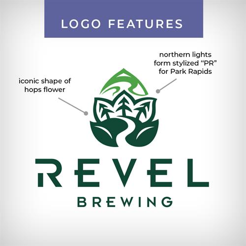 Features of Revel Brewing logo