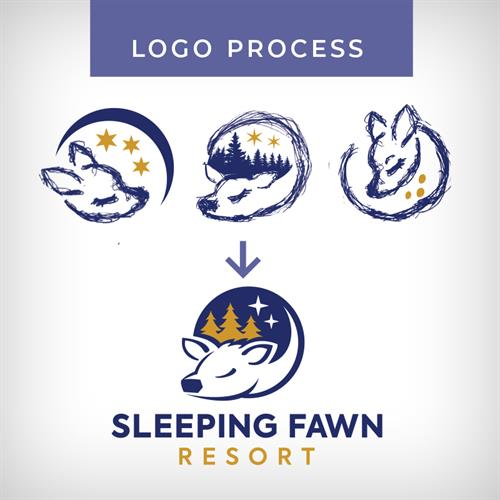 Logo Process- Sleeping Fawn Resort