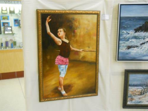 Example of art on display at annual art show