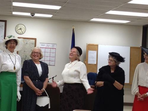 Portraying early suffragists