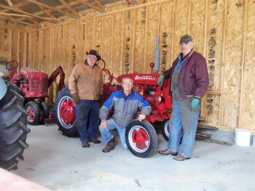 2017 raffle restoration crew-Will Norman, Noel Allard, Dan Strickler
