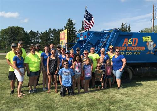 4th of July parade in Park Rapids 2018 crew