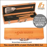 Laser Engraved BBQ Set GiveAway - No Purchase Necessary - Drawing May 6th