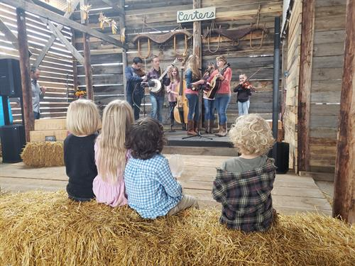 Figuring It Out performs on the Corn Crib Stage at Carters' Fall Festival, 2021