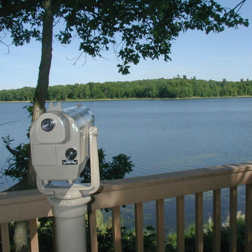 Tamarac offers scenic overlooks for optimal wildlife watching.