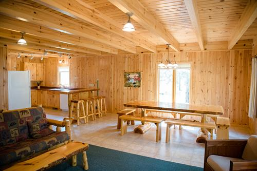 Cabin 10's reunion cabin dining room.