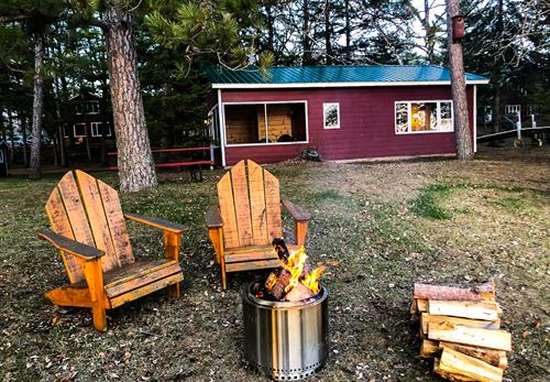 Cabin 1 & a Fire Pit
