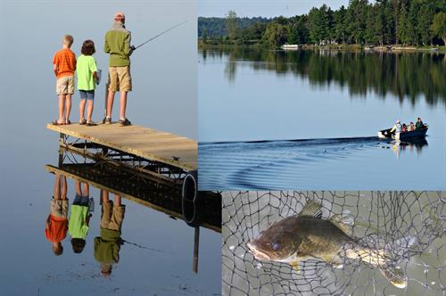 11th Crow Wing Lake - headwaters to chain of lakes.  Spring fed, 16' average clarity - known for trophy walleye, good largemouth bass and numerous pan fish.