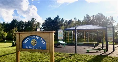 Rotary Fitness Park at Century School, a project finished in 2019 with the addition of a shelter