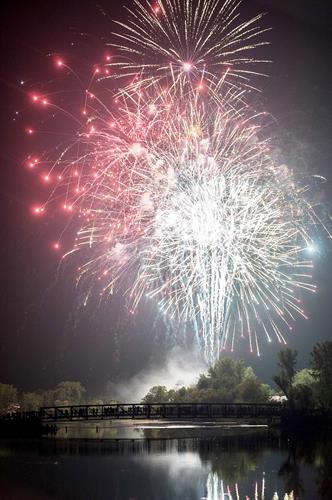 Thanks to great community support, the club sponsors the 4th of July Fireworks display