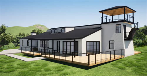 Concept for a new house in Sonoma County.