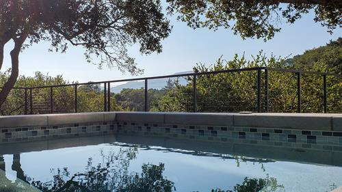 Completed deck and pool remodel in Kentfield.