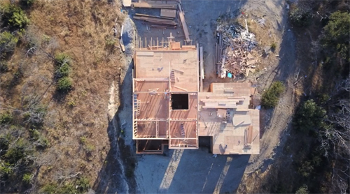 Sky view from a new house construction