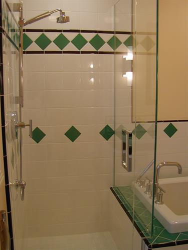 August Residence - San Jose, CA: Art Deco Bathroom
