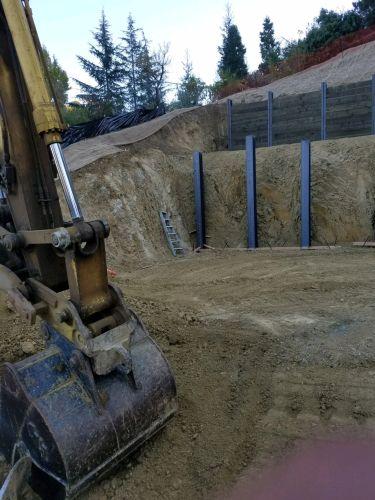 Soldier Pile & Lagging Retaining Walls