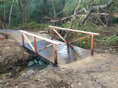 custom nature trail bridge