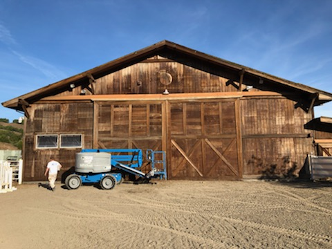 Before Nicasio barn with lift rental