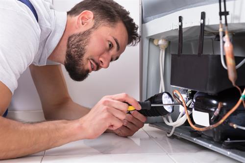 Service home appliances, clean out gutters, handle punch list items.