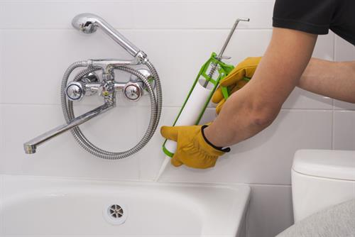 Home Repairs including touch up paint and caulking around tubs, sinks and windows.