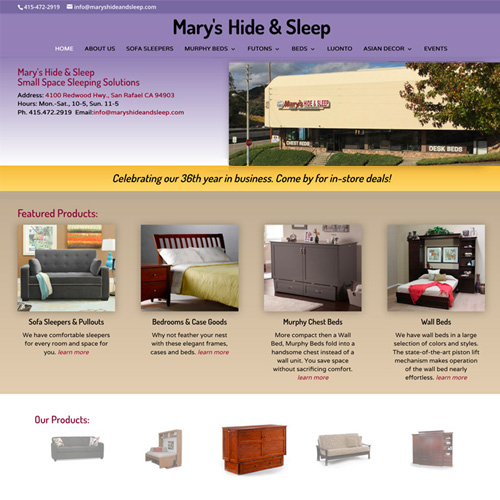 Mary's Hide and Sleep