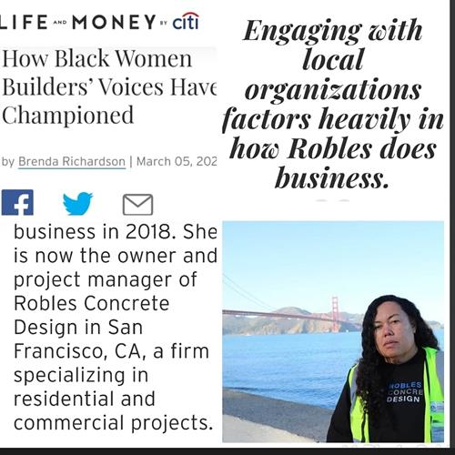 Read about Robles Concrete Design on the #citibank website