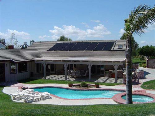 Fafco solar pool heating panels, SolarCraft