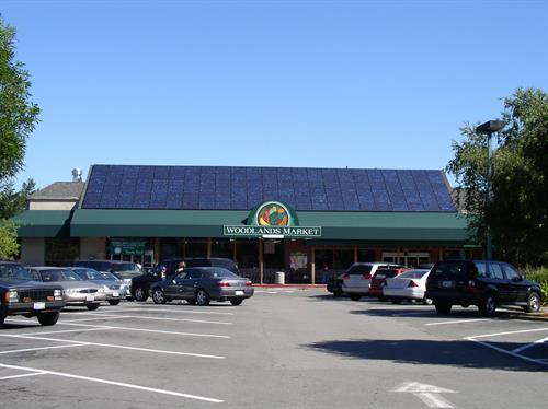 Woodland Market commercial solar installation, SolarCraft