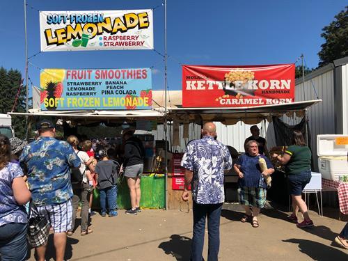Vendors during Festival