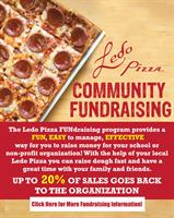 Ledo Pizza Vienna accepting FUNdraiser reservations for year 2020