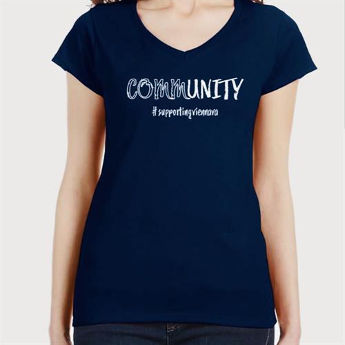 #SupportingViennaVA Fundraiser V-Tee Front
