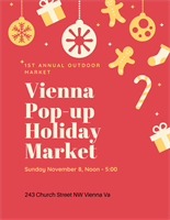 Holiday Pop-Up Market, presented by the Vienna Arts Society