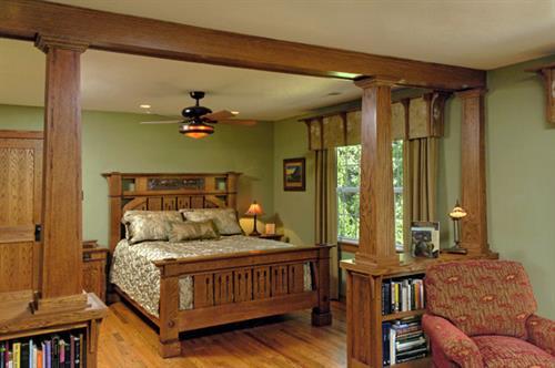 This Vienna VA Craftsman style bedroom won an award for Interior Design in 2008.