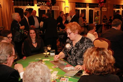 Michele Wright dealing Blackjack.