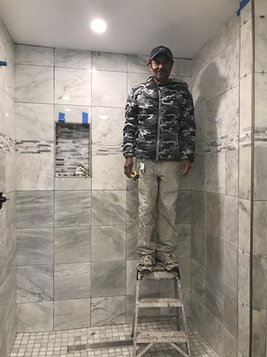 Meet Whan one of our best tile guys!