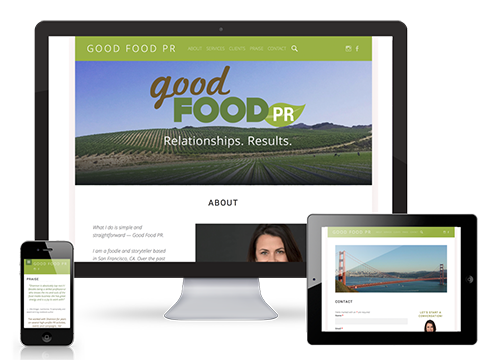 Branding and website for Good Food PR