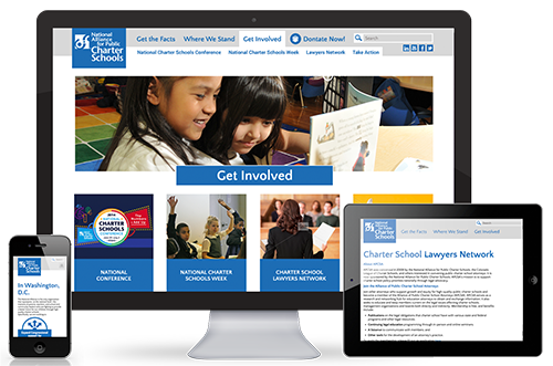 Website redesign for National Alliance for Public Charter Schools