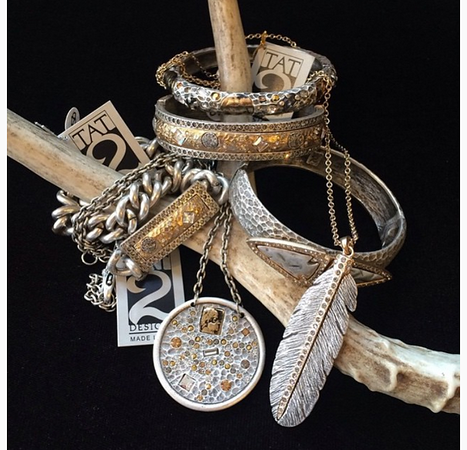 Mixed metal collection, we have over 100 pieces from this artisan, a top seller!
