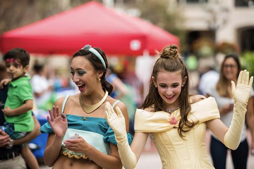 All smiles and fun with the Arabian Princess and Belle!
