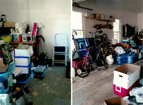 With organization and new flooring installed, the garage now has space for the car and items are much easier to access.