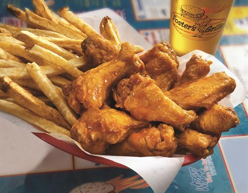 Jumbo Wings with hand-cut fries