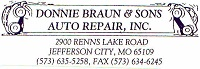 Donnie Braun & Sons Auto Repair