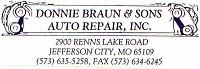 Donnie Braun & Sons Auto Repair