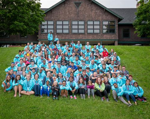 "Camp ""I Am Me"" group photo"