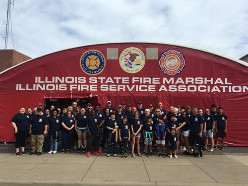 Volunteers promoting fire safety at the Illinois State Fair
