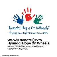 Patrick Hyundai Hope on Wheels Test Drive Event