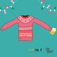 Connext Holiday Sweater Happy Hour