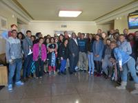 2020 students from KCMO schools meeting with KCMO Mayor Sly James