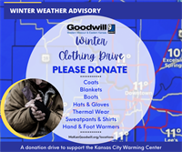 Winter Clothing Drive for the Kansas City Warming Center at Bartle Hall